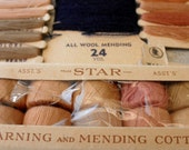 Vintage Thread, Darning and Mending Cotton, Mending Wool