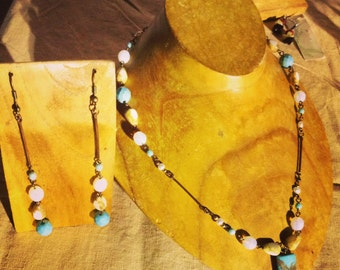 Turquoise Howlite Redesign ~ Earrings only