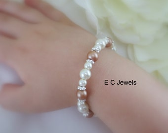 Pearl Bracelet for that Special Little Girl- you pick your colors