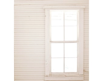 Inside Out.Fine Art Photography.Bright Light.White and Cream.Window Photography.Old House.Wall Art.Home Decor.Shabby chic.Cottage Home.