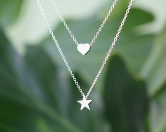 Star of my Heart Silver Necklace, silver dainty necklace, spring jewelry, everyday necklace, best friend gifts