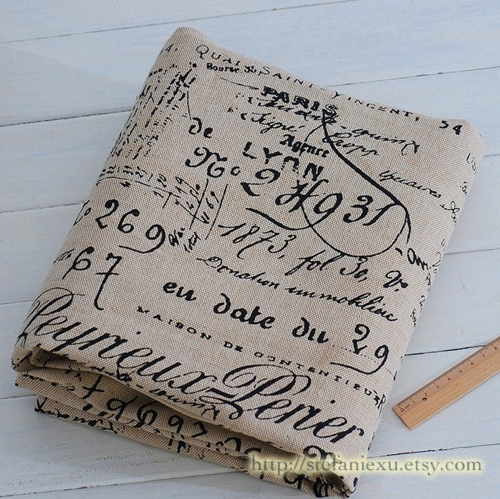 French Style Home Decor Basket Linen Fabric Retro Vintage Look