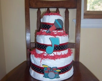 Little Rocker 3 Tier Diaper Cake