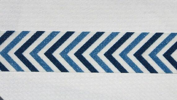 Washi Masking Tape Blue Chevron Zig Zag