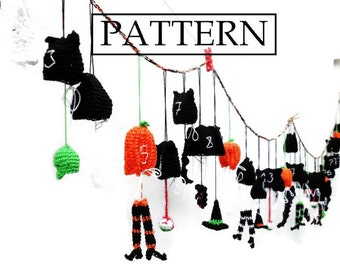 Garland: Counting Down to Halloween - PDF Crochet pattern