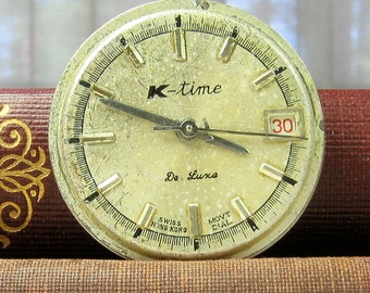 Vintage Watch Face and Watch Movements Parts for Repurpose, Reuse, Mixed Media