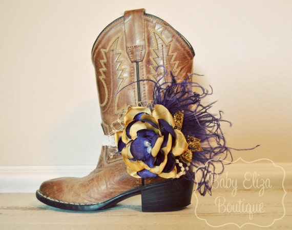 Purple and Gold boot bracelet