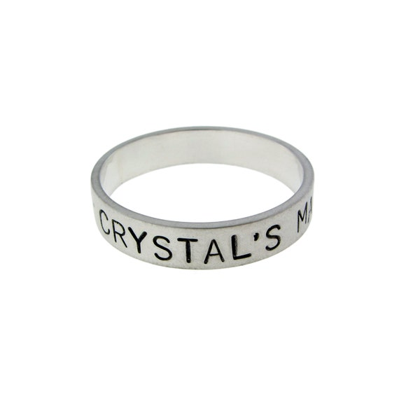 Simple Sterling Silver Band Ring Personalized by MetalPressions