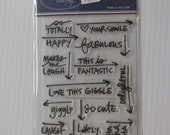 Technique Tuesday Ali Edwards Rubber Stamp set (new)