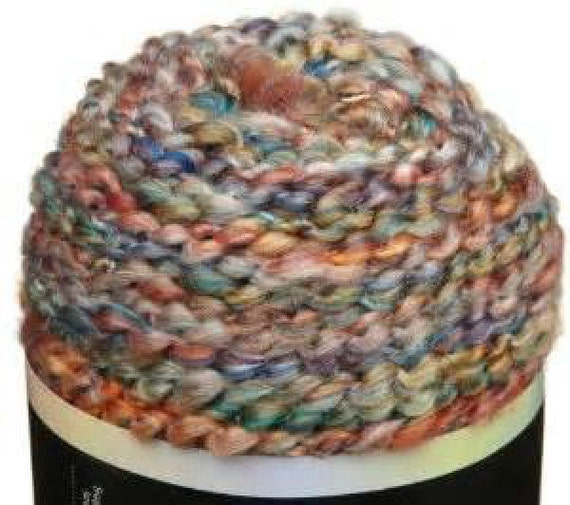 new lion brand homespun yarn 407 PAINTED DESERT rust blue gold red ...