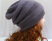 Wool Hat, Slouchy Hat, Slouchy Beanies,  Knitted Hats, Slouch Hat, Mens Winter Hats, Winter Hats for Women, Merino Wool Hat