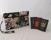 travel document organizer - multiple passport holder - family passport holder - passport wallet - travel wallet - butterfly MADE TO ORDER