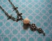 Clearance Retro Vintage Inspired Soaring Sparrow Rose Necklace OG 15 Now 5