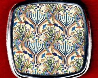 Compact Mirror - Vintage Floral Pattern by William Morris (1834-1896)