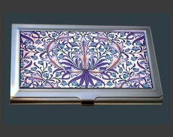 Business Card Case - Vintage Floral Design by William Morris (1834-1896)
