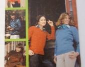 Vintage Susan Bates Sweater Pattern Booklet 17450, 13 Knitting Patterns