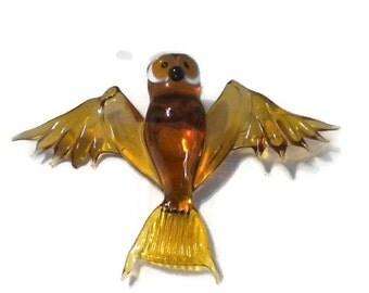 SALE Flying Glass Owl