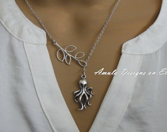 Lariat Style Octopus Necklace