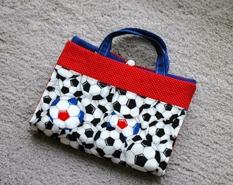 Crayon Artist tote featuring soccer balls