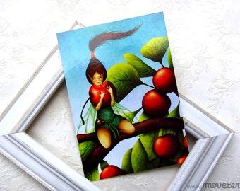 La petite chapardeuse - Postcard