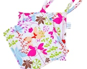 Handmade Floral Potholder -- Heat Resistant -- Colorful Pot Holder -- Sewn Potholder -- Fabric Hot Pad -- Spring Floral -- Ready To Ship
