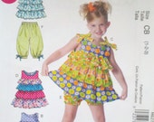 REDUCED - Shorts n Capri Pant, Toddler/Childrens Top, Dress - McCall's M6270 Pattern - UNCUT - See shop announcement for discount code