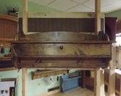 "Wall Storage Unit Coat Rack Glove Storage Unit 36"" wide Pine Wood Quilt Rack"