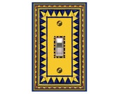 0287b - Quilt Bkgd Design - mrs butler switchplate  (Choose size/price from dropdown)