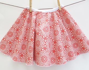 The 'Camellia' Skirt - Girl's Skirt - Red Floral Skirt for Baby, Toddler and Youth Child - Quality Handmade Clothing