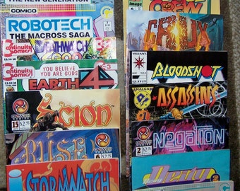 Vintage Comic Books, Echo, Next Man, Assassins, Scion, Bloodshot, Robotech, Books, Magazins, Collectible, Funnies, Comics, Assorted,