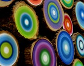 Tree Rings Custom Listing Set of 12 Reclaimed Wood Beautiful Dimensional Wall Art Eco Friendly