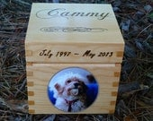 Personalized Pet Memorial Box Med Square