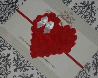 Valentine's Day Headband, Red Heart Headband, Heart Hair Bow,Baby Headband, Toddler Headband Newborn Headband