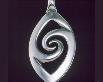 Mandorla / Vesica Piscis Pendant / Necklace -  Yoga and Meditation Collection - Silver Symbolic Jewelry by K Robins Designs