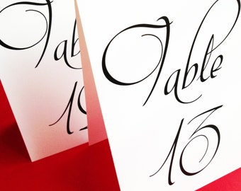 Table Number Tents, Table Number Cards, Wedding Table Number Signs, Reception Table Numbers, Weddings
