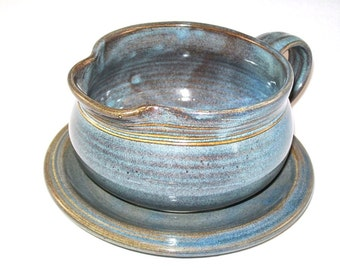 Twilight Gravy Boat- stoneware,handmade Gravy Boat, handthrown