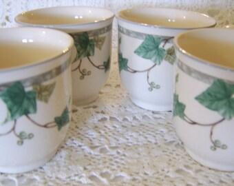 Ireland Keltcraft Designed by Noritake Set of 4 Ivy Lane China Cups