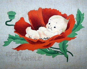 Kewpie Pillow Top for Embroidery Linen 1913