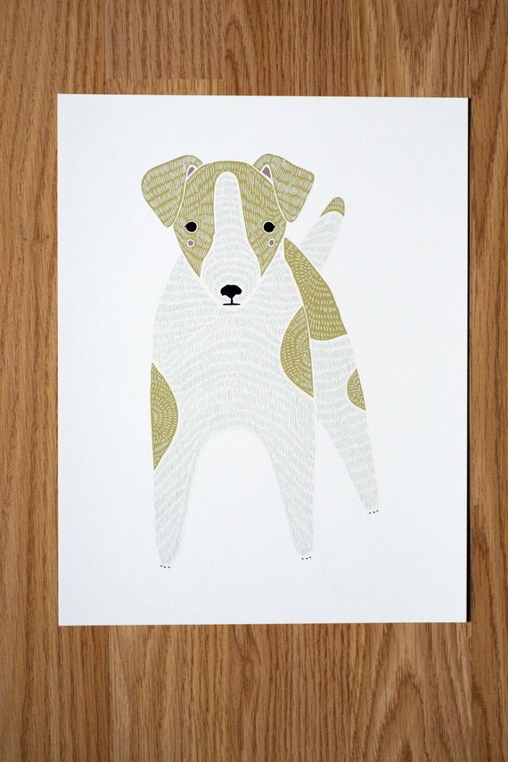 Jack Russell Terrier Illustration  - FREE US SHIPPING