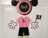 Mickey Mouse Pirate Body Part Stateroom Door Magnets for Disney Cruise