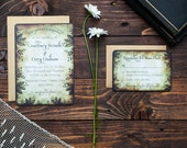Finsbury Park - Vintage Woodland Wedding Invitation Sample (Multiple Colors)
