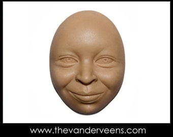 Mold No.54 (face- African looking with Opened eyes) by Veronica Jeong