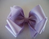 Toddler Hair Bow,Lilac Bow, Lavender  Big Double Boutique  Hair Bow, Baby Hair Bow, Spring Bow