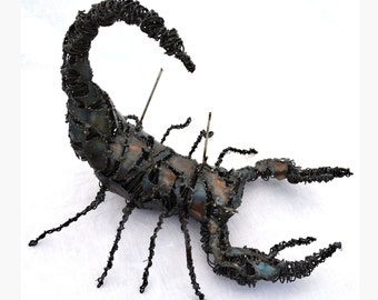 Metal scorpion sculpture - insect art - Metal bug sculpture - insect home decor - Welded steel scorpion sculpture - Heavy metal sculpture
