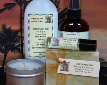 COMFORTABLY RUM Bay Rum Soap Gift Set - Mens Gift Sets - Fathers Day Gift Set - Groomsmen Gifts