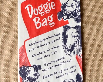 Adorable Doggie Bags with Doggie and Poem Design, 12 x 4 3/4 x 3 Inches - Gusseted - set of 25