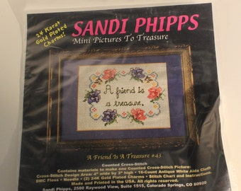 A Friend is a Treasure Counted Cross Stitch Kit