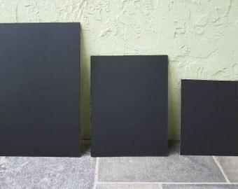 "1 Set of 3 1 SMALL 1 MEDIUM 1 LARGE  Sizes are: 8""x10"", 11""x14', 16""x20"" unframed chalkboards Frameless Blackboards"