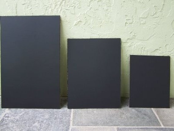 Custom sizes Set of 3 Chalkboard blackboard sale 8x10, 11x14, 16x20 inches unframed