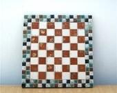 Mid-Century Tile Trivet  // Vintage